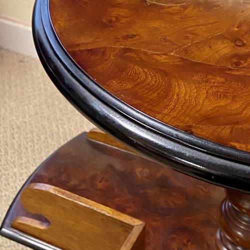 Fine Quality 19th Century Burr Walnut Library Book Table image-6