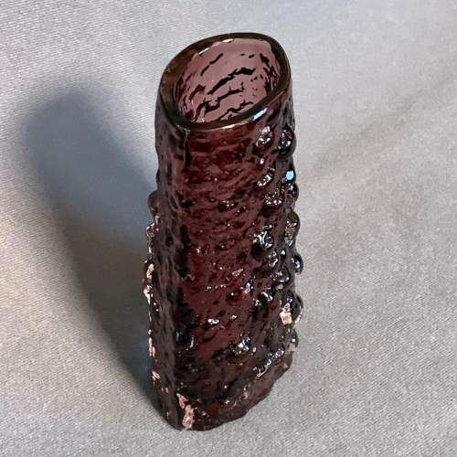Whitefriars Amethyst Glass Volcano Vase image-3