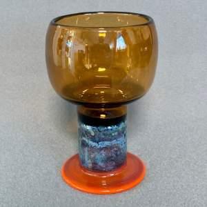 Mid 20th Century Kaj Franck Glass Goblet