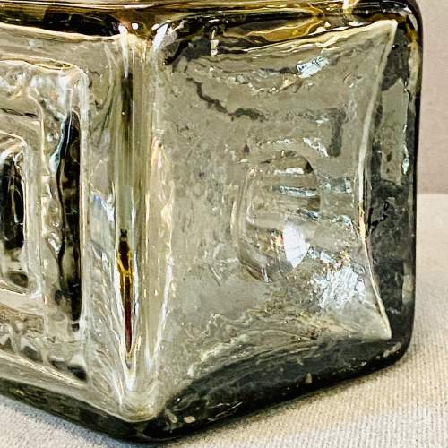 Dartington Grey Glass Greek Key Vase by Frank Thrower image-4