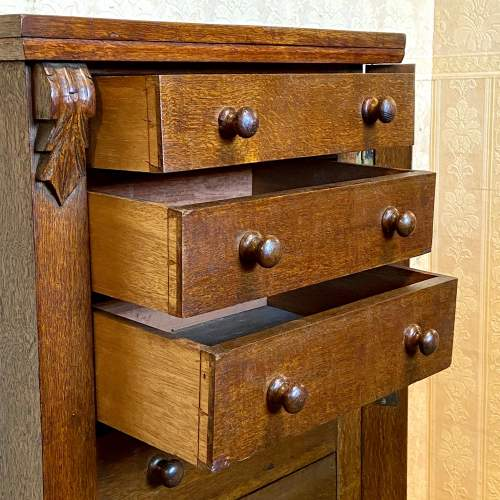 Late Victorian Oak Wellington Chest image-3