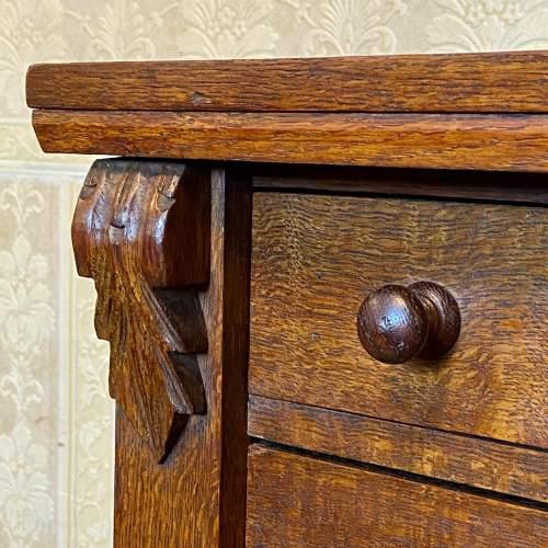 Late Victorian Oak Wellington Chest image-4