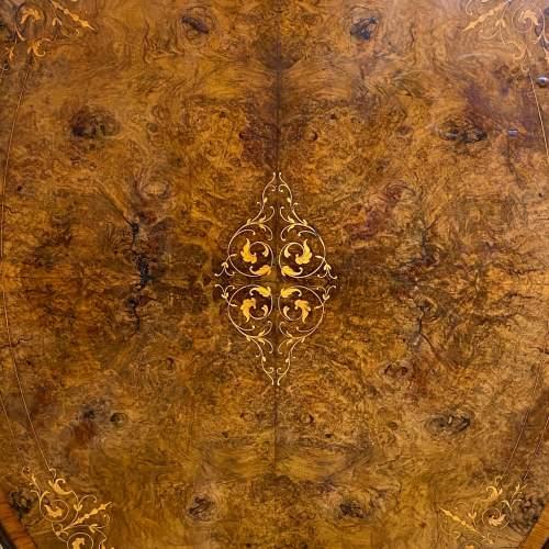 19th Century Large Tilt Top Inlaid Walnut Loo Table image-3