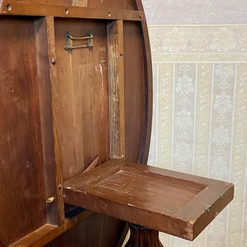 19th Century Large Tilt Top Inlaid Walnut Loo Table image-6