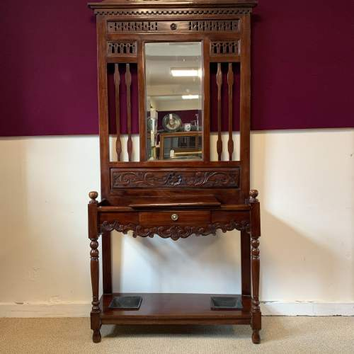 Late Victorian Mahogany Hall Stand image-1