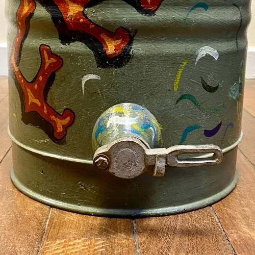 Vintage Bargeware Hand Painted Honey Trap Churn image-6
