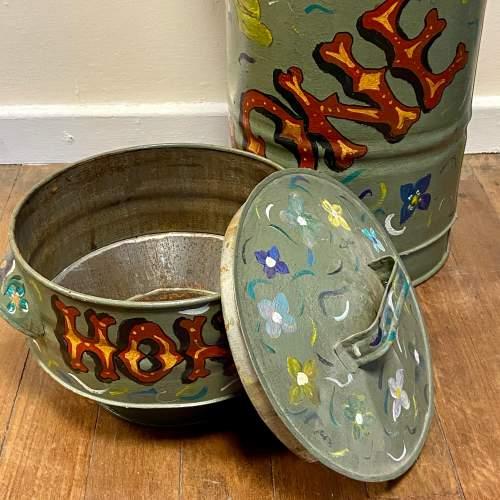 Vintage Bargeware Hand Painted Honey Trap Churn image-5