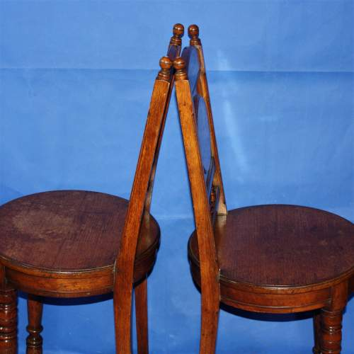 A Fine Pair of Arts and Crafts Oak Hall Chairs image-4