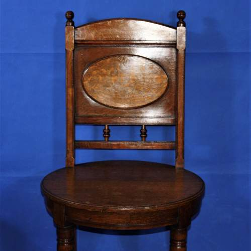 A Fine Pair of Arts and Crafts Oak Hall Chairs image-5