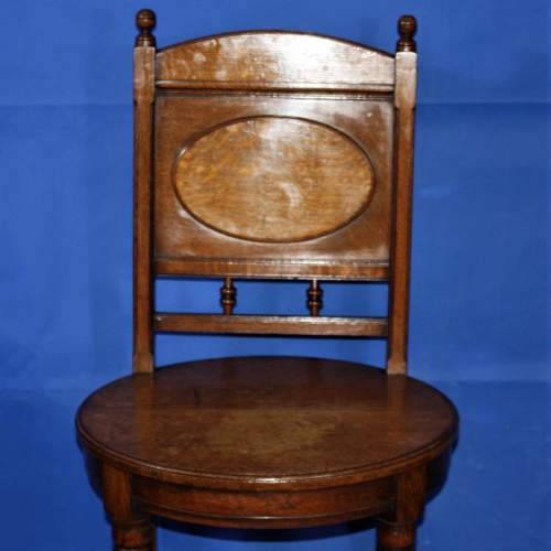 A Fine Pair of Arts and Crafts Oak Hall Chairs image-6