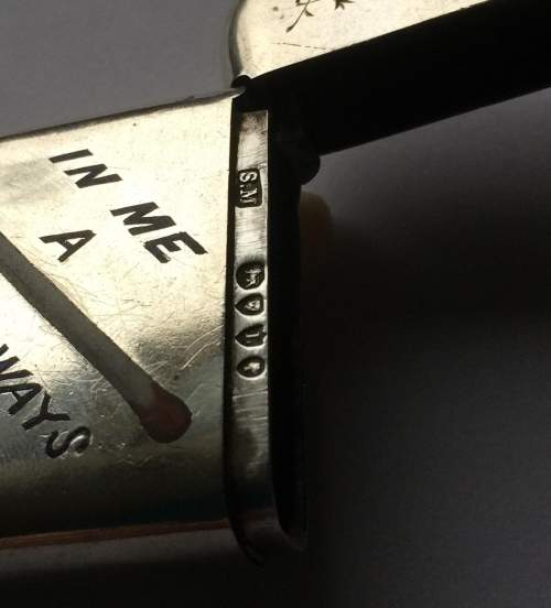 Sampson Mordan Victorian Christmas Silver Vesta Case image-3