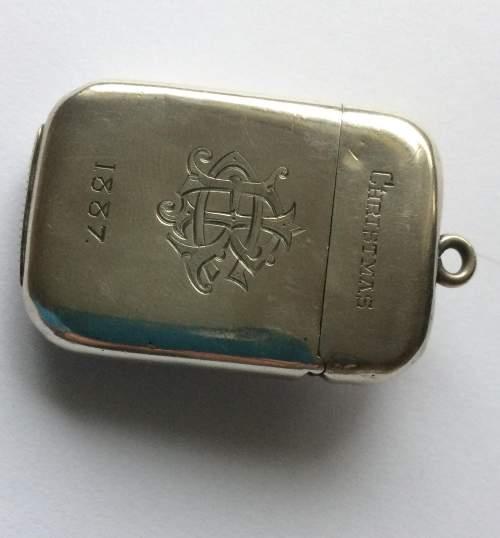 Sampson Mordan Victorian Christmas Silver Vesta Case image-5