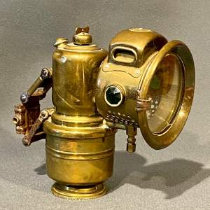 Powell and Hammer Carbide Brass Cycle Lamp