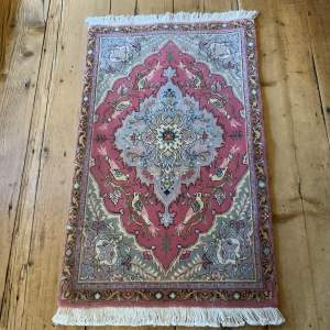 Superb Quality Hand Knotted Persian Rug Tabriz In Bird Design