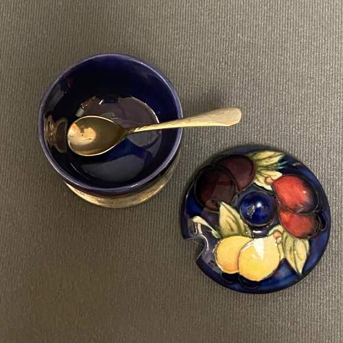 William Moorcroft Table Mustard with Lid and Spoon image-2