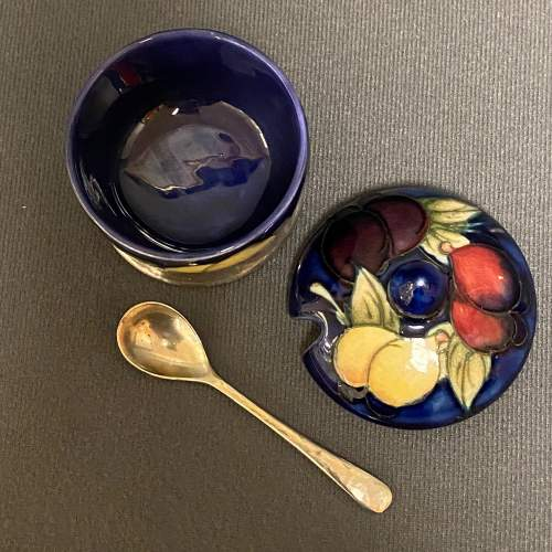 William Moorcroft Table Mustard with Lid and Spoon image-4