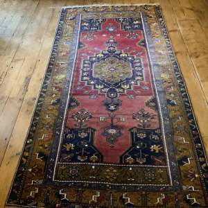 Old Hand Knotted Turkish Rug Yahyali Superb Shading And Abrash