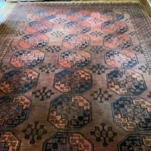 Large Old Hand Knotted Afghan Village Rug Lovely Abrash
