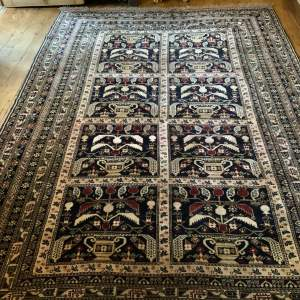 Hand Knotted Afghan Rug Superb Quality Piece Wonderful