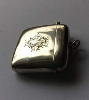 Samuel and Levi Edwardian Silver Vesta Case