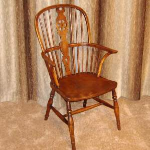 19th Century Yew and Elm Windsor Chair