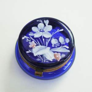 Moser Cobalt Blue Glass Trinket Box