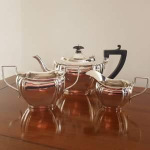 Edwardian Solid Silver Three Piece Tea Service