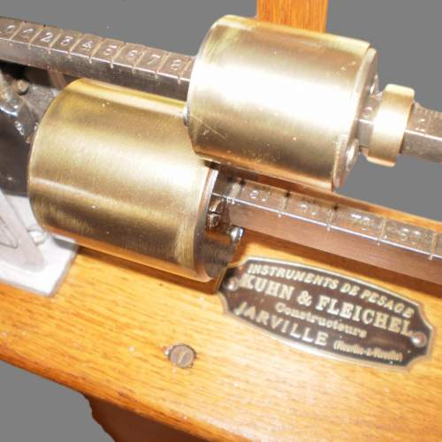 Late 19th Century Oak French Scales by makers Kuhn and Fletchel image-5