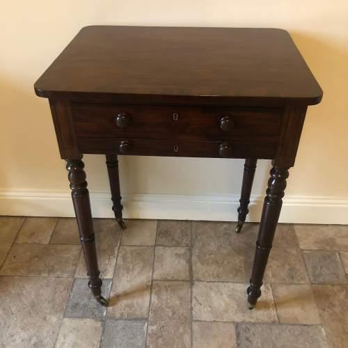 Regency Mahogany Lamp Table image-1