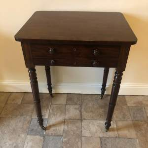 Regency Mahogany Lamp Table
