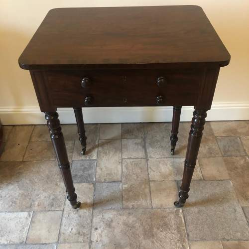 Regency Mahogany Lamp Table image-5