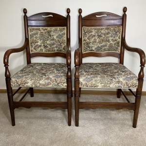 Pair of Victorian Empire Open Armchairs
