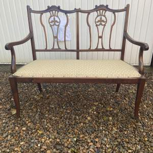 Edwardian Mahogany Frame Salon Sofa