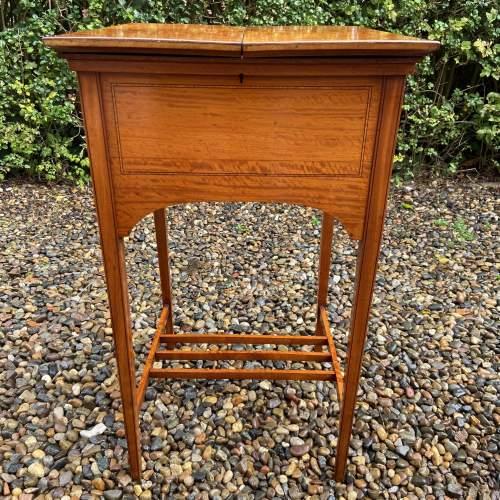 Lovely Edwardian Inlaid Satinwood Sewing Box image-5