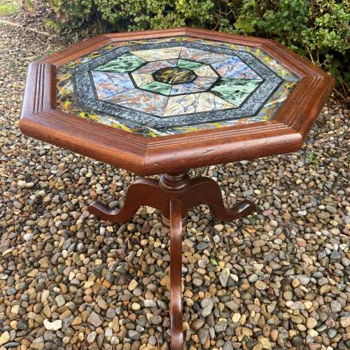 Very Decorative Octagonal Top Table image-1