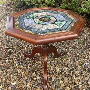 Very Decorative Octagonal Top Table