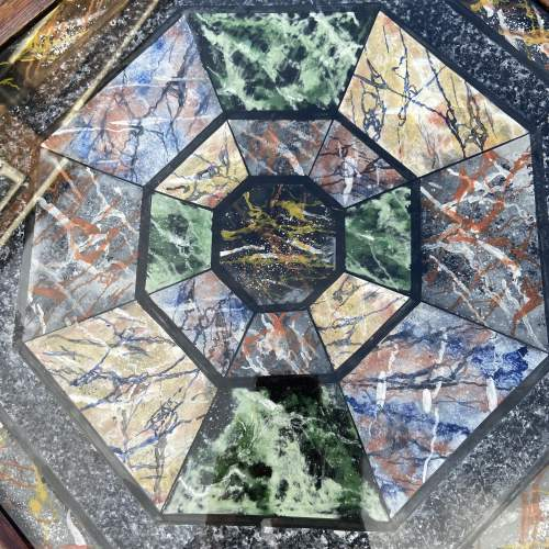 Very Decorative Octagonal Top Table image-4