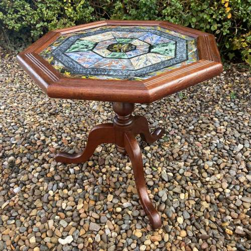 Very Decorative Octagonal Top Table image-6