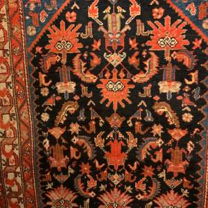 Stunning Old Hand Knotted Persian Rug Malayer Unusual Piece