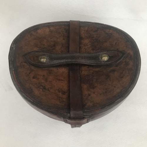 A Charming Victorian Leather Hat Case and Grey Top Hat image-2