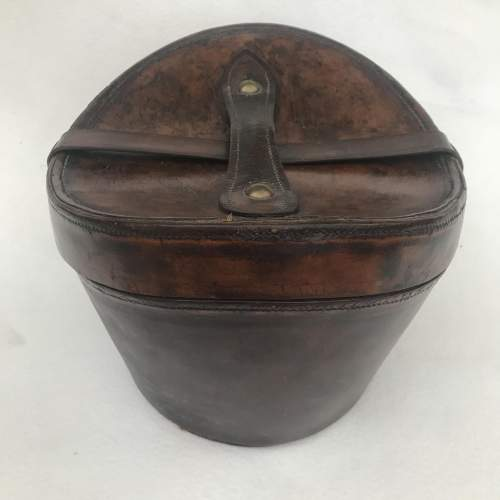 A Charming Victorian Leather Hat Case and Grey Top Hat image-3