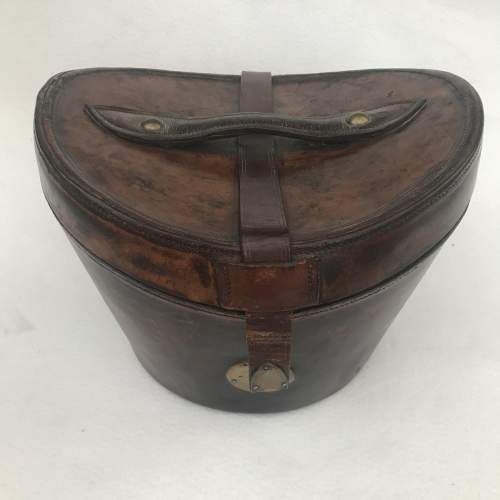 A Charming Victorian Leather Hat Case and Grey Top Hat image-6