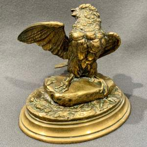 19th Century Bronze Bird Inkwell