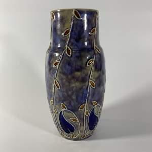 Royal Doulton Lambeth Stoneware Vase Circa Late 19th Century