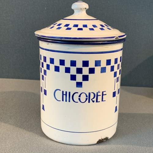 1930s Set Of Three French Enamel Storage Containers image-2