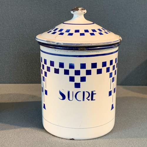1930s Set Of Three French Enamel Storage Containers image-3