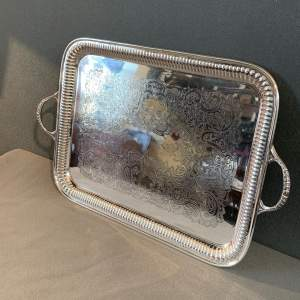 Vintage Silver Plated Tray