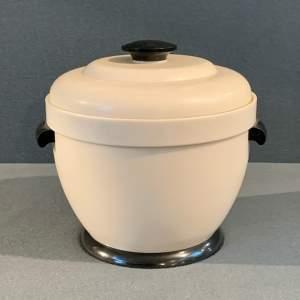 White Bakelite 20th Century Thermos Ice Bucket