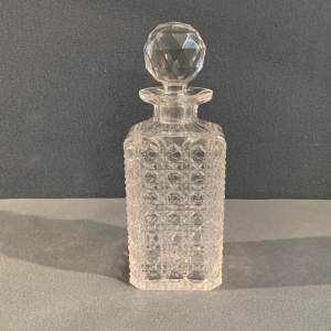 Hobnail Cut Glass Whisky Decanter