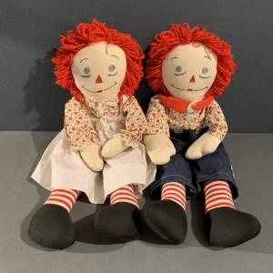Vintage Pair of American Raggedy Dolls